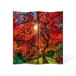 Paravan de Camera ArtDeco din 4 Panouri Peisaj Suprarealist 105 x 150 cm