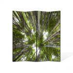 Paravan de Camera ArtDeco din 4 Panouri Peisaj Brazi 105 x 150 cm