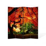 Paravan de Camera ArtDeco din 4 Panouri Peisaj Suprearealist 2 105 x 150 cm