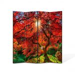 Paravan de Camera ArtDeco din 4 Panouri Peisaj Copacul fantastic 105 x 150 cm