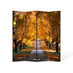 Paravan de Camera ArtDeco din 4 Panouri Peisaj Sosea in valuri 105 x 150 cm