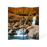 Paravan de Camera ArtDeco din 4 Panouri Peisaj Cascada lina 140 x 180 cm