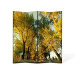 Paravan de Camera ArtDeco din 4 Panouri Peisaj Perspectiva copaci 140 x 180 cm