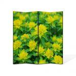 Paravan de Camera ArtDeco din 4 Panouri Peisaj Verde crud 140 x 180 cm