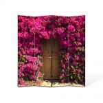 Paravan de Camera ArtDeco din 4 Panouri Peisaj Poarta de flori 140 x 180 cm