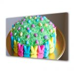 Tablou Canvas Sarbatori Paste Tort cu iepurasi