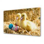 Tablou Canvas Sarbatori Paste Puisorii si oua colorate