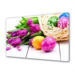 Tablou Canvas Sarbatori Paste Flori si oua asortate