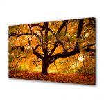 Tablou Canvas Luminos in intuneric VarioView LED Peisaj Copac vesnic
