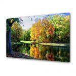 Tablou Canvas Peisaj Toamna de pe lac