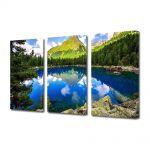 Set Tablouri Multicanvas 3 Piese Peisaj Peisaj montan