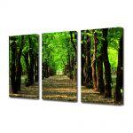 Set Tablouri Multicanvas 3 Piese Peisaj Poteca in parc