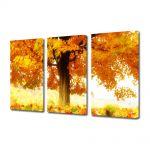 Set Tablouri Multicanvas 3 Piese Peisaj La umbra copacului