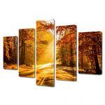Set Tablouri Multicanvas 5 Piese Peisaj Serendipity