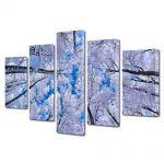 Set Tablouri Multicanvas 5 Piese Peisaj In sus iarna