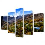 Set Tablouri Canvas 5 Piese Peisaj Dealuri