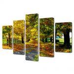 Set Tablouri Multicanvas 5 Piese Peisaj Culori de toamna