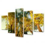 Set Tablouri Multicanvas 5 Piese Peisaj Perspectiva copaci