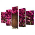 Set Tablouri Multicanvas 5 Piese Peisaj Poarta de flori