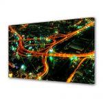 Tablou Canvas Luminos in intuneric VarioView LED Urban Orase Sosele in oras