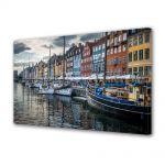 Tablou Canvas Luminos in intuneric VarioView LED Urban Orase Copenhaga Danemarca