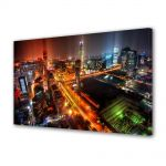 Tablou Canvas Luminos in intuneric VarioView LED Urban Orase Beijing dupa ploaie China