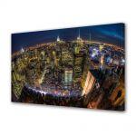 Tablou Canvas Luminos in intuneric VarioView LED Urban Orase Privire de ansamblu asupra New York