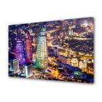 Tablou Canvas Luminos in intuneric VarioView LED Urban Orase Azerbaijan noaptea