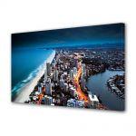 Tablou Canvas Luminos in intuneric VarioView LED Urban Orase Coasta Australiei