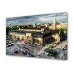 Tablou Canvas Luminos in intuneric VarioView LED Urban Orase Gara centrala din Helsinki