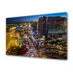 Tablou VarioView MoonLight Fosforescent Luminos in Urban Orase Bulevard in Las Vegas