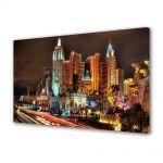 Tablou Canvas Luminos in intuneric VarioView LED Urban Orase Las Vegas Nevada SUA
