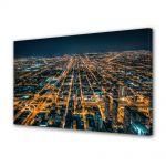 Tablou VarioView MoonLight Fosforescent Luminos in Urban Orase Metropola in noapte