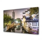 Tablou Canvas Luminos in intuneric VarioView LED Urban Orase Shanghai China