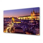Tablou Canvas Luminos in intuneric VarioView LED Urban Orase Orasul Praga