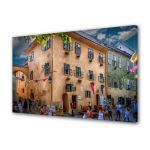 Tablou Canvas Luminos in intuneric VarioView LED Urban Orase Casa Dracula Sighisoara