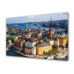 Tablou Canvas Luminos in intuneric VarioView LED Urban Orase Stockholm Suedia