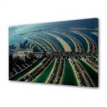 Tablou Canvas Luminos in intuneric VarioView LED Urban Orase Insula palmier Dubai