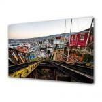 Tablou Canvas Luminos in intuneric VarioView LED Urban Orase Valparaiso