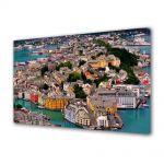 Tablou Canvas Luminos in intuneric VarioView LED Urban Orase Port in Norvegia