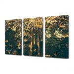 Set Tablouri Multicanvas 3 Piese Lumini in Chicago