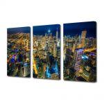 Set Tablouri Multicanvas 3 Piese Chicago Colorat