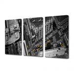 Set Tablouri Multicanvas 3 Piese Strazile orasului
