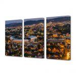 Set Tablouri Multicanvas 3 Piese Panorama a Clujului