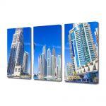 Set Tablouri Multicanvas 3 Piese Cladiri in Dubai