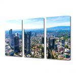Set Tablouri Multicanvas 3 Piese Panaroma Frankfurt