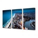 Set Tablouri Multicanvas 3 Piese Coasta Australiei