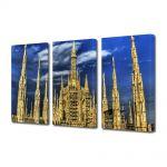 Set Tablouri Multicanvas 3 Piese Cladire gotica