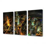 Set Tablouri Multicanvas 3 Piese Turnurile Petronnas in Kuala Lumpur