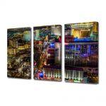 Set Tablouri Multicanvas 3 Piese Nordul Las Vegas ului